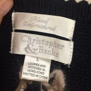 Christopher & Banks Sweaters - 🚫SOLD🚫Fall Vest New Buy Today Ship Tomorrow Sz L
